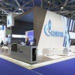 """Стенд """"Газпром"""" на выставке."""