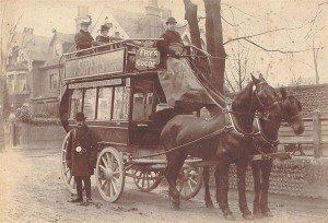 Первая реклама на транспорте
