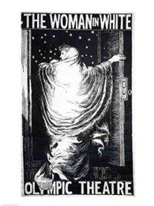 """Постер """"женщина в белом"""" - первый постер нацеленный на визуальное восприятие."""