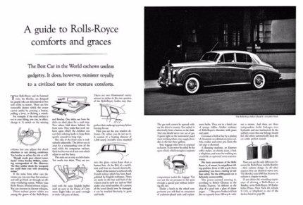 Одна из первых реклам автомобилей Rolls-Royce