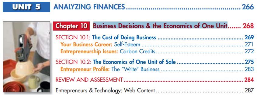Первое упоминание Economics of One Unit в учебнике