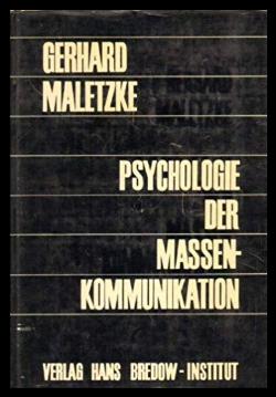 Психология массовой коммуникации Малецке