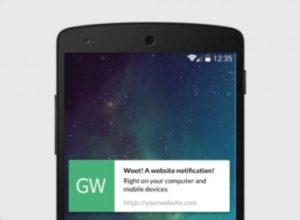 Пуш-уведомление на экране мобильного телефона.