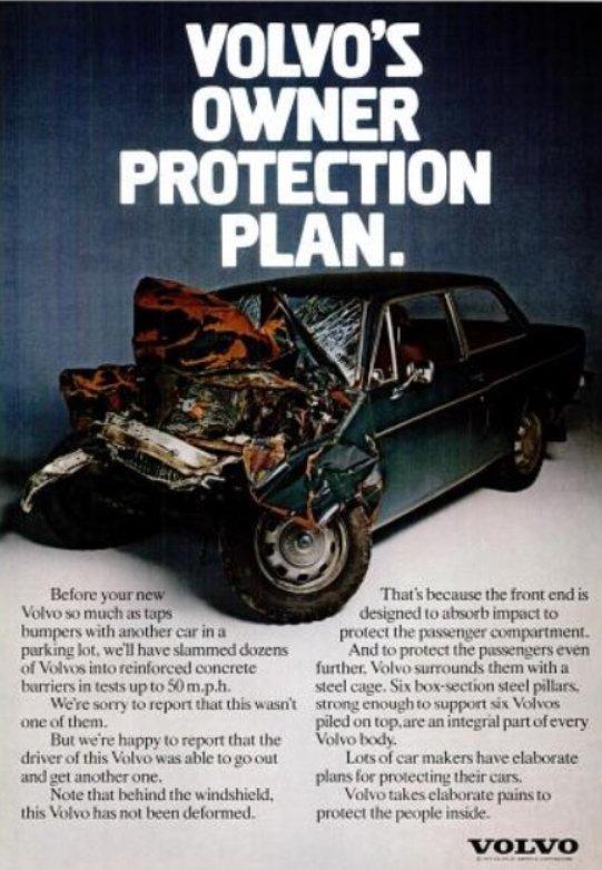Реклама VOLVO из 70-х. Хороший пример позиционирования.