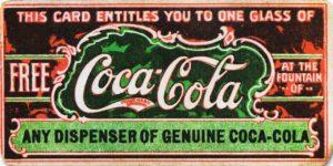 Первый купон. Coca-cola 1888