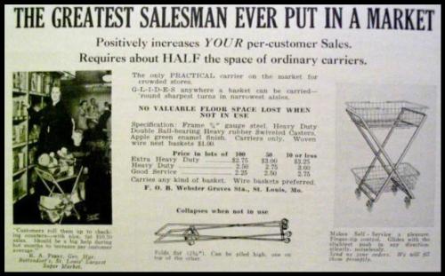 Тележка для супермаркетов Голдмана