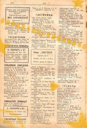 Рекламные объявления в справочнике Весь киев 1